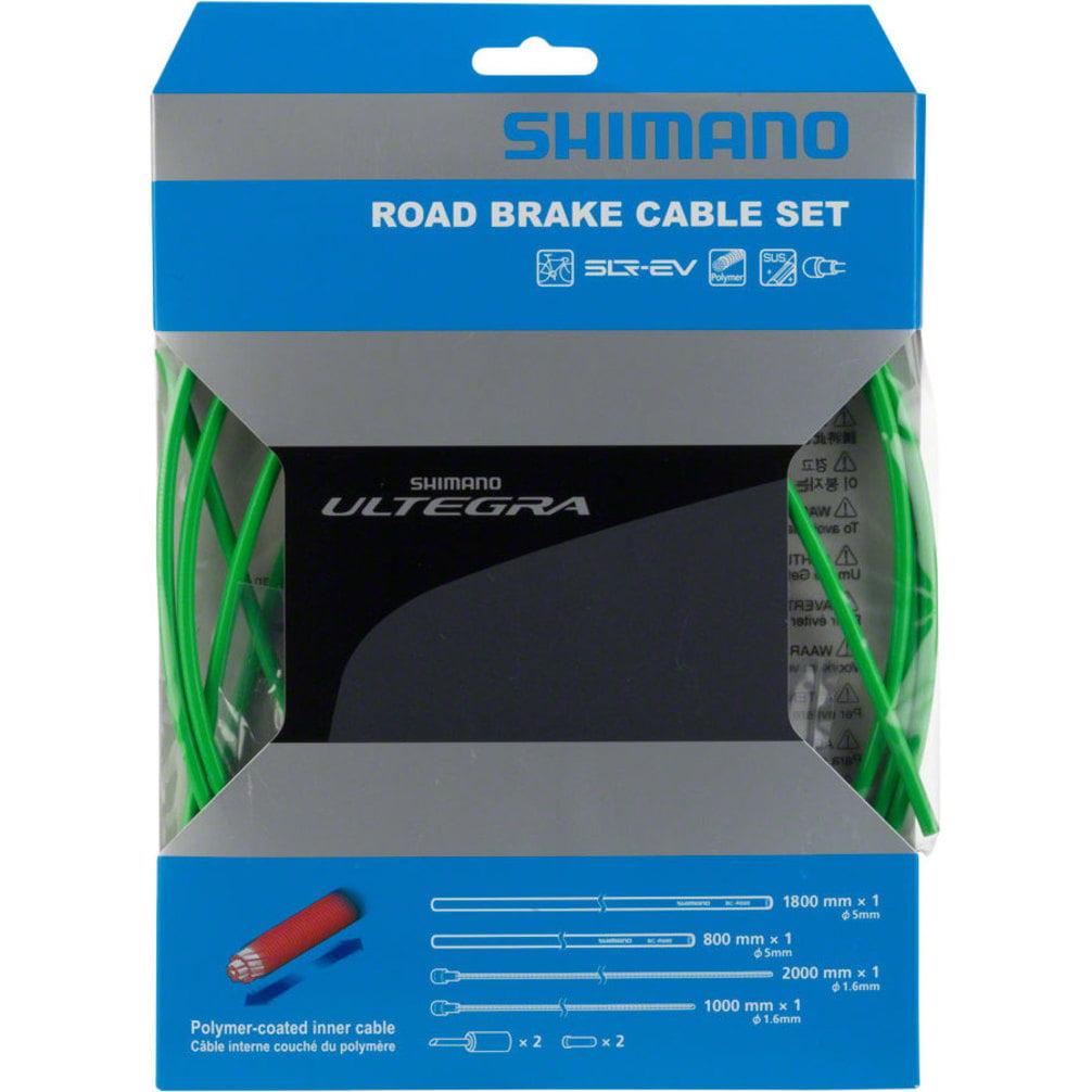 Shimano Ultegra R680 Polymer-coated Brake Cable Set Lime Green
