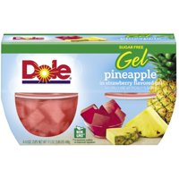 (3 Pack) Dole® Pineapple in Sugar Free Strawberry Gel 4-4.3 oz. Cups