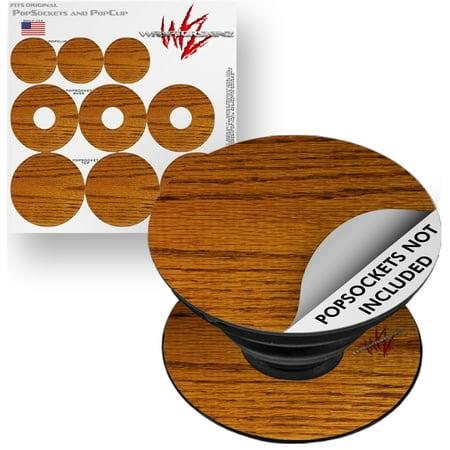 Oak 3 Grain (Decal Style Vinyl Skin Wrap 3 Pack for PopSockets Wood Grain - Oak 01 (POPSOCKET NOT INCLUDED) by WraptorSkinz)