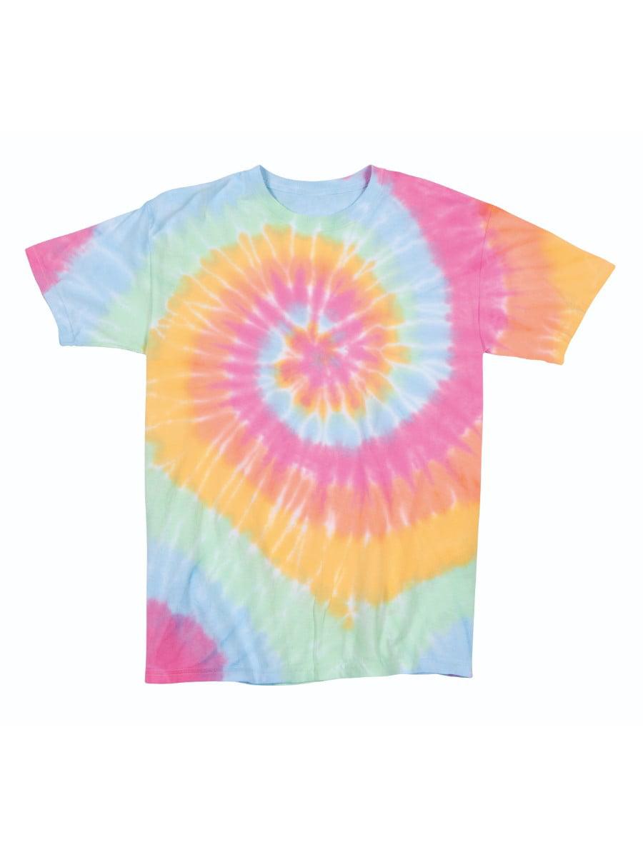Multi-Spiral Youth Unisex Big Boys Big Girls Tie Dye T-Shirt Tee