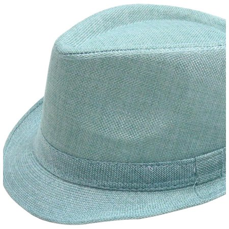 b2e35149d4e Simplicity Women Men Summer Gangster Trilby Straw Fedora Hat Cap W  Brim -  Walmart.com