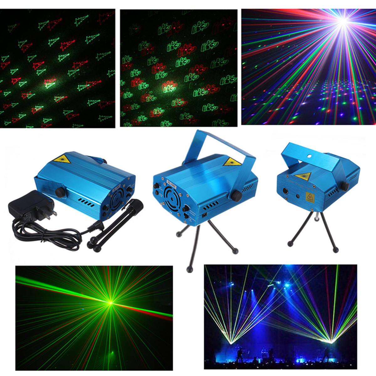 M.way MIni LED Strobe Sound Voice Actived Auto Flash RGB Led Laser Stage Light, Party,Disco, DJ Lights  Party Bars KTV