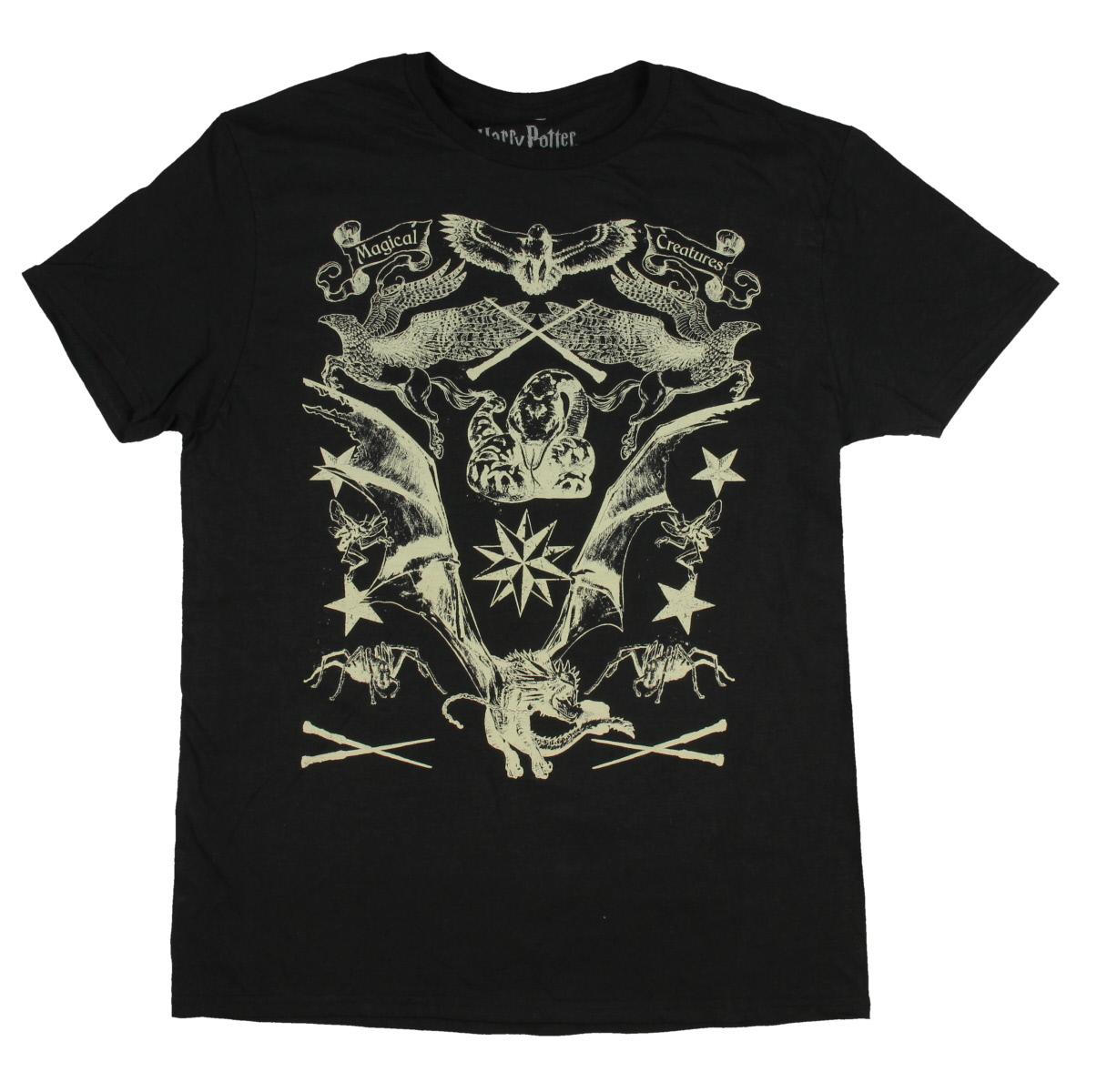 Harry Potter Shirt Magical Creatures Hippogriff Dragon Acromatula Nagini Women's Sketch Drawings T-Shirt