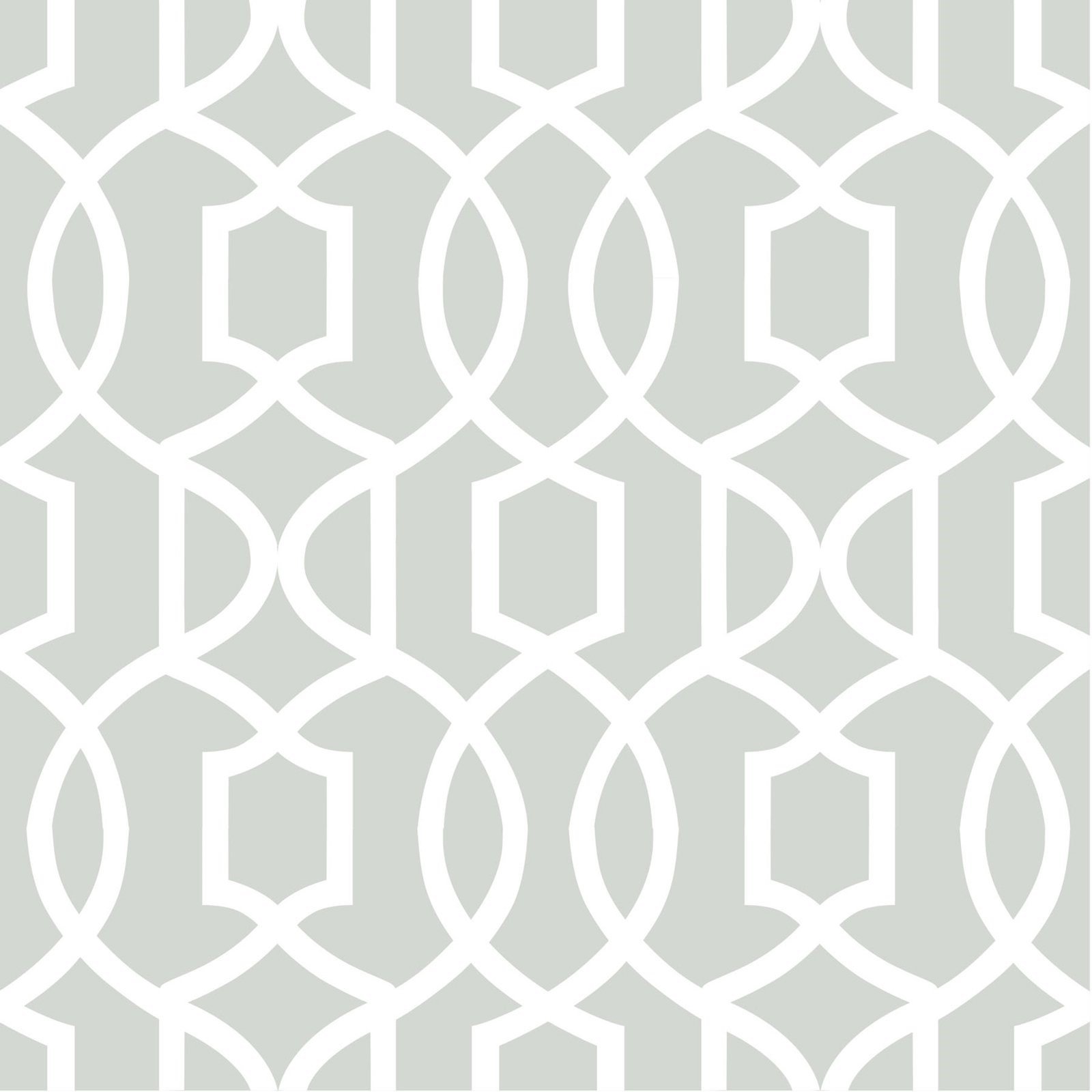 Wallpops Grey Grand Trellis Peel And Stick Wallpaper by Brewster