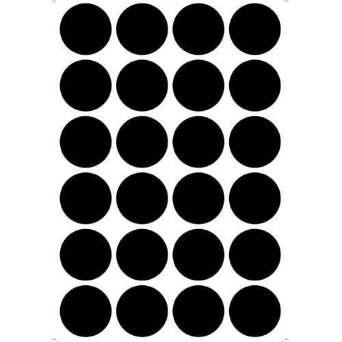 "Wallies Peel & Stick Chalk Dots, 24 dots 2"" diameter"
