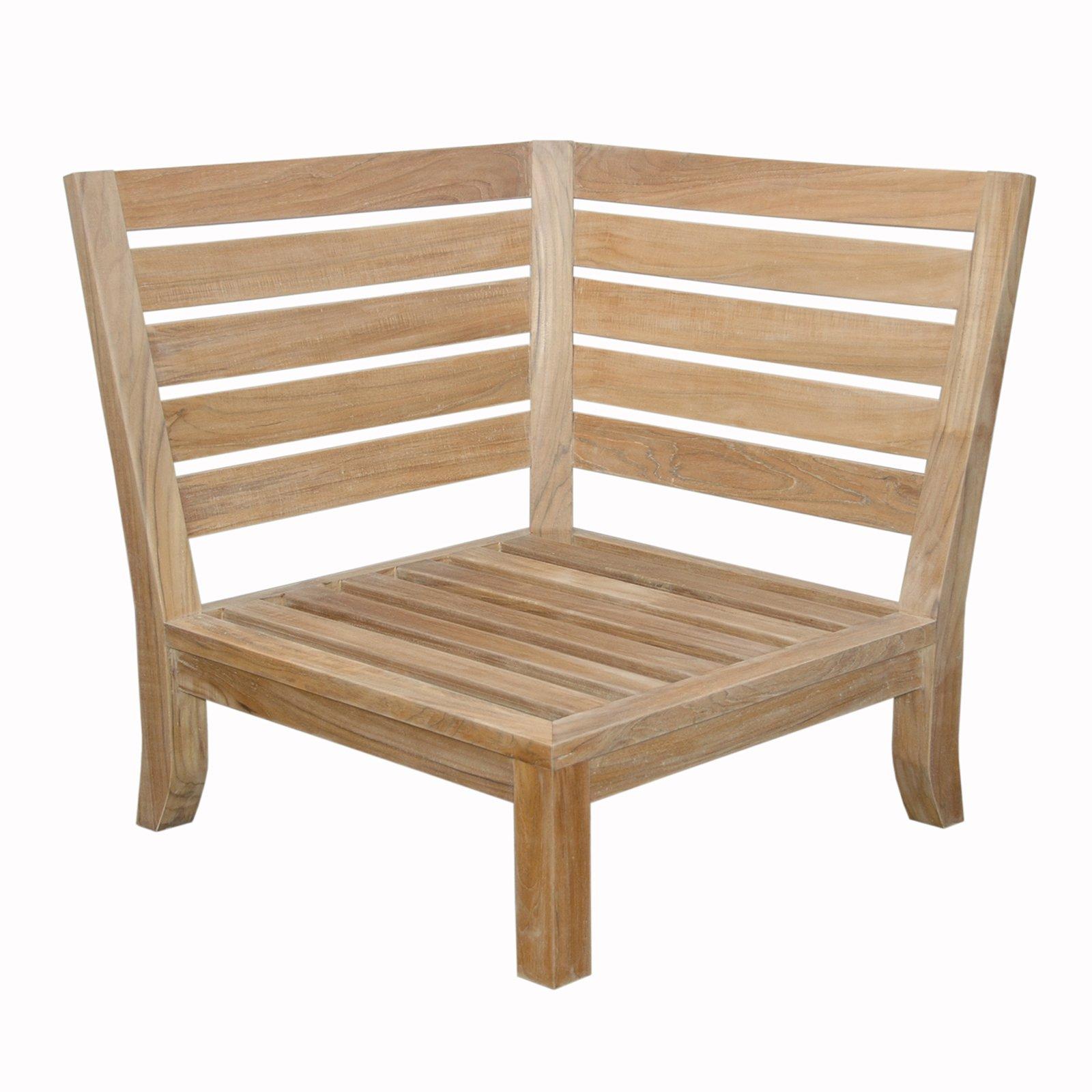 Anderson Teak Luxe Corner Outdoor Modular Chair