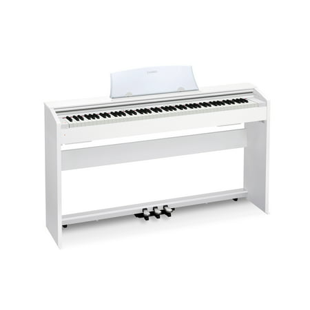 casio px770 wh privia digital home piano with 88 scaled weighted hammer action keys white. Black Bedroom Furniture Sets. Home Design Ideas