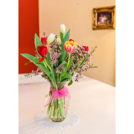 Mothers Day Bouquet - canvas print gift colorful flowers tulips bouquet mothers day stretched canvas 10 x 14