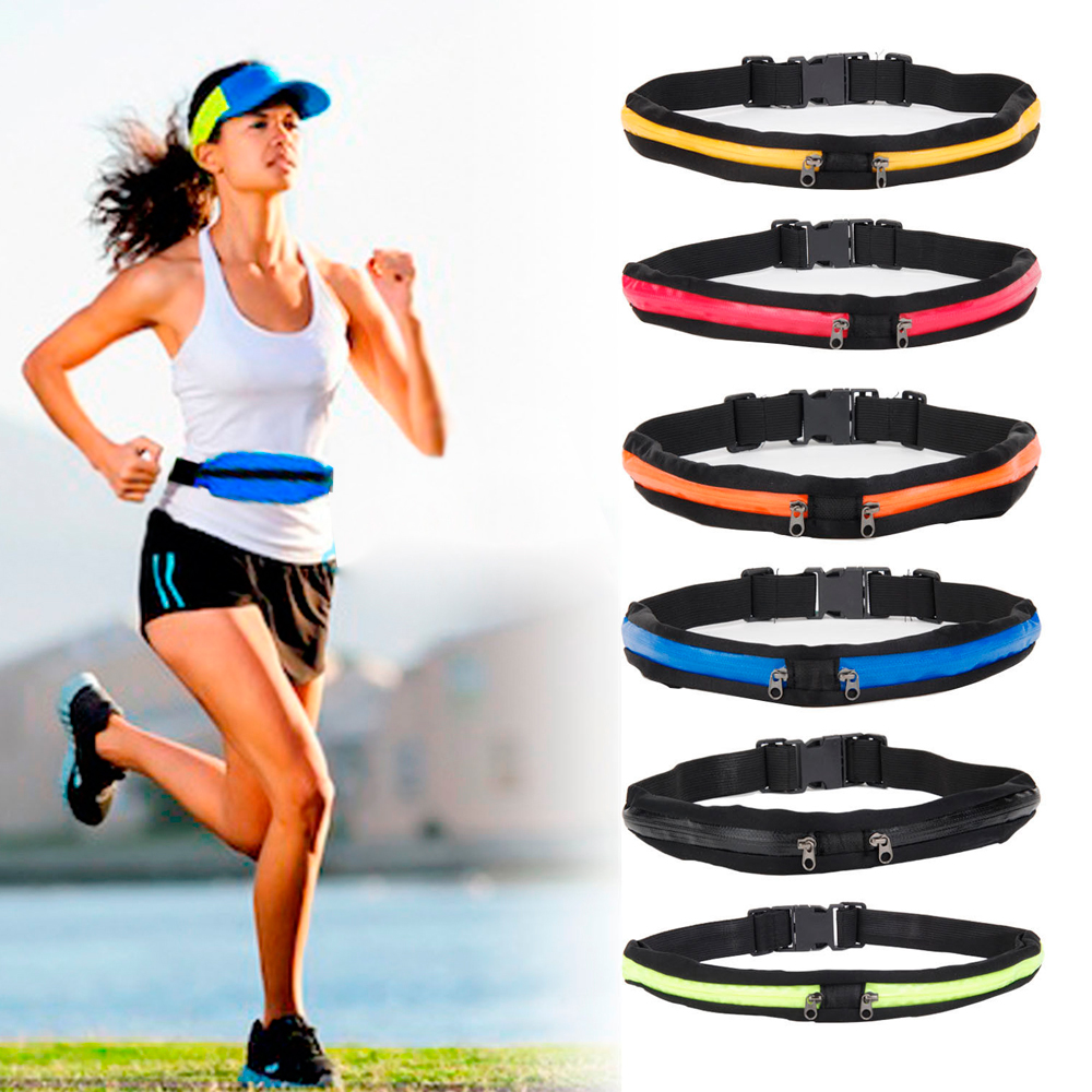 Unisex Sport Runner Zipper Fanny Pack Belly Waist Bag Fitness Running Belt Pouch