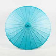 "Quasimoon 28"" Water Blue Paper Parasol Umbrella by PaperLanternStore"