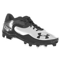 494567346 Product Image Under Armour Men s Football Cleats CAM LOW MC Cam Newton Black  Silver 9 M