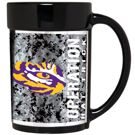 LSU Tigers Operation Hat Trick 15oz. Ceramic Mug - Black - No Size - Lsu Tigers Ceramic