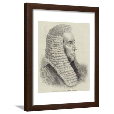 The Late Sir George Jessel, Master of the Rolls Framed Print Wall Art