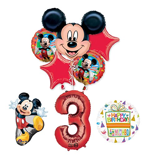 The Ultimate Mickey Mouse 3rd Birthday Party Supplies and Balloon Decorations by