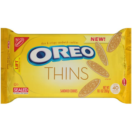 (2 Pack) Nabisco Oreo Sandwich Cookies Thins, 10.1 OZ (Oreo Cookie Recipes Halloween)