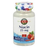Kal - Niacin ActivMelt Strawberry 25 mg. - 200 Tablets