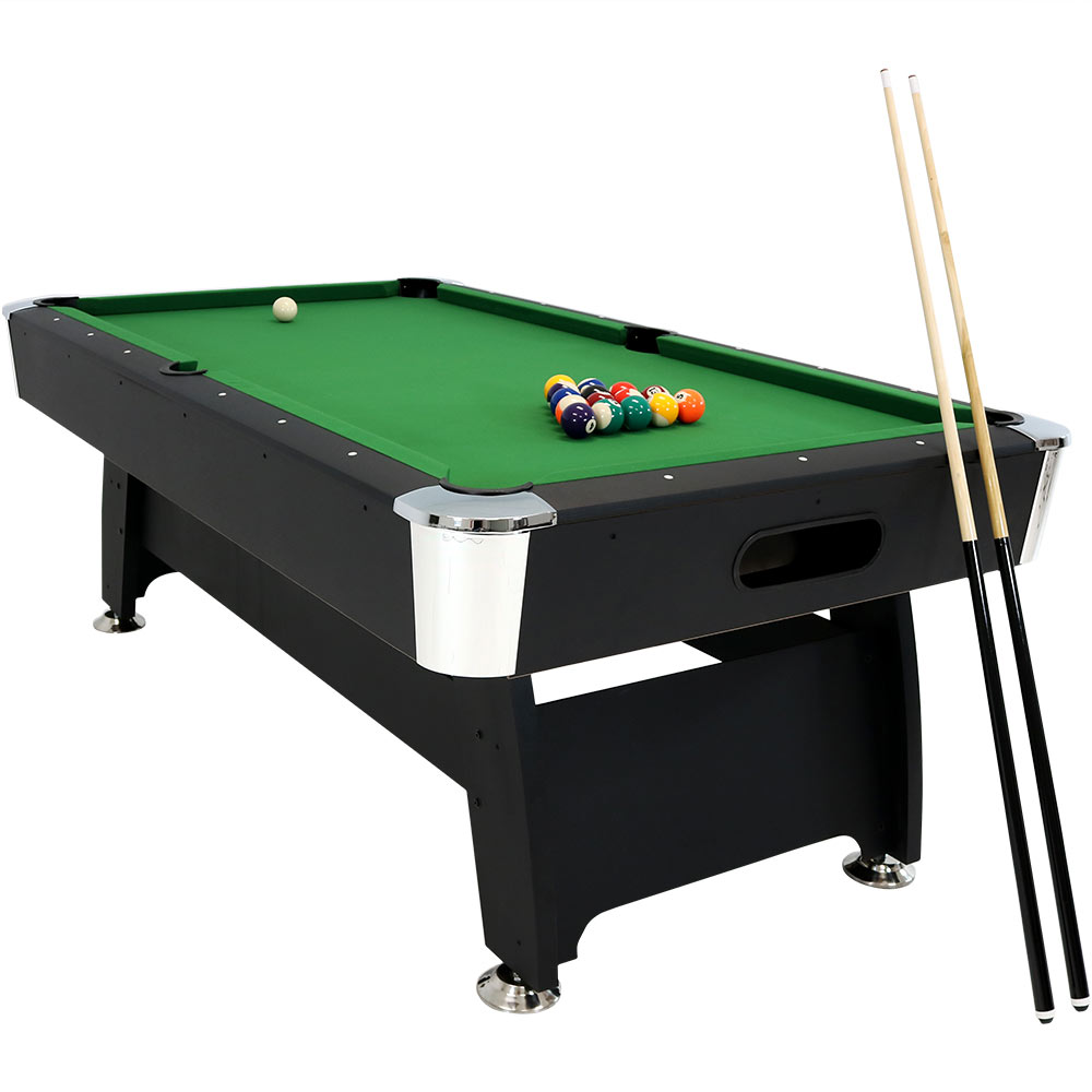 Sunnydaze 7-Foot Pool Table Billiard Game Set For Indoor Game Room, Includes Ball Return, Triangle, Balls, Cues, Chalk and Brush