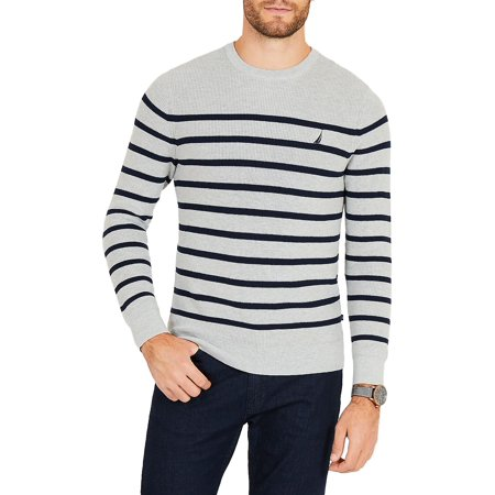 - Breton Navtech Striped Crewneck Sweater