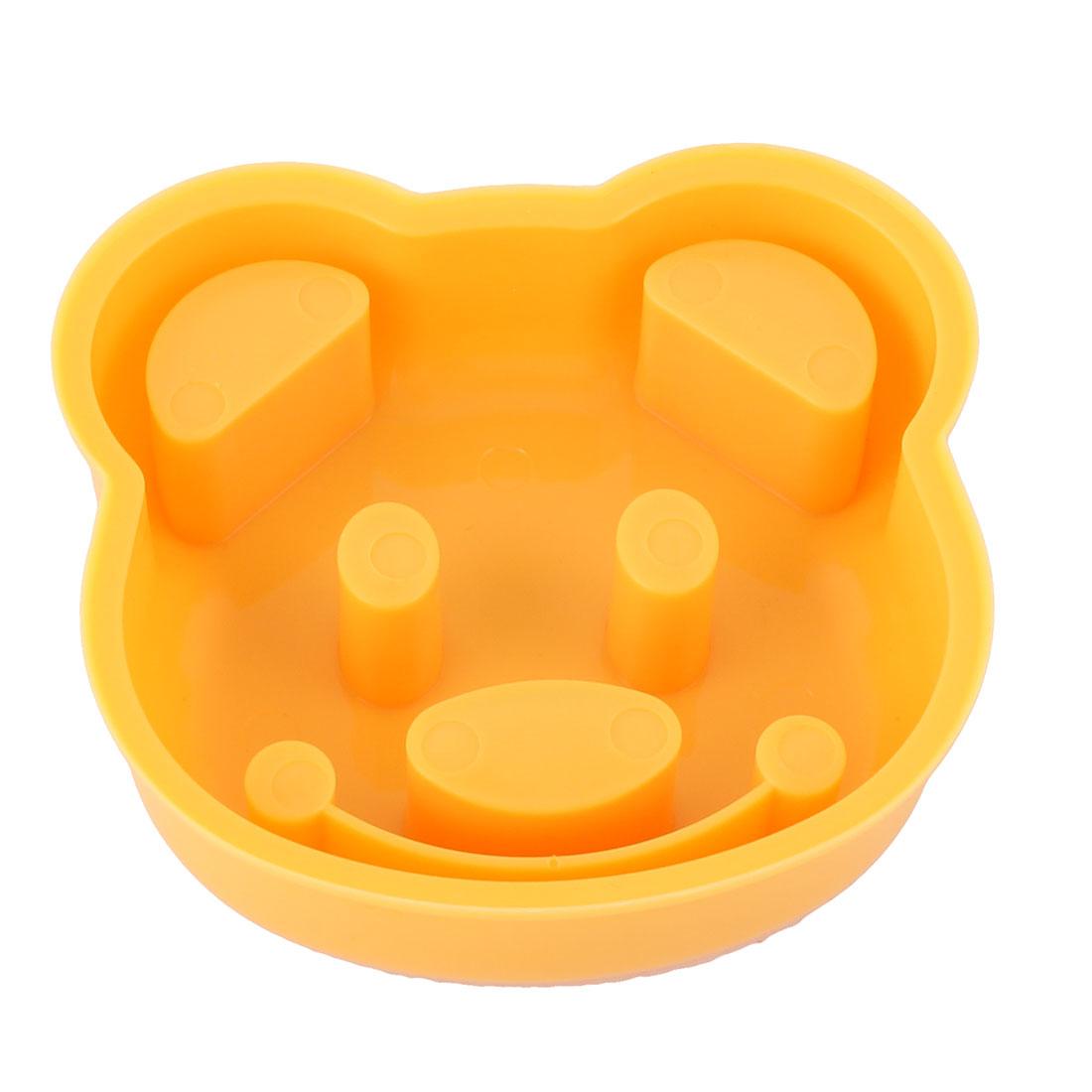 Home Kitchen Plastic Bear Head Shaped DIY Sandwich Bread Rice Ball Mould Orange - image 1 of 3