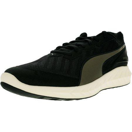 Puma Mens Ignite Ultimate Black Asphalt Ankle High Mesh Running Shoe   11M