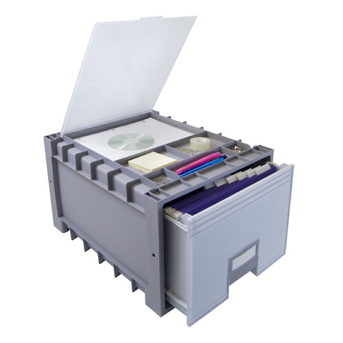 STOREX Plastic Archive Storage Box with Lid
