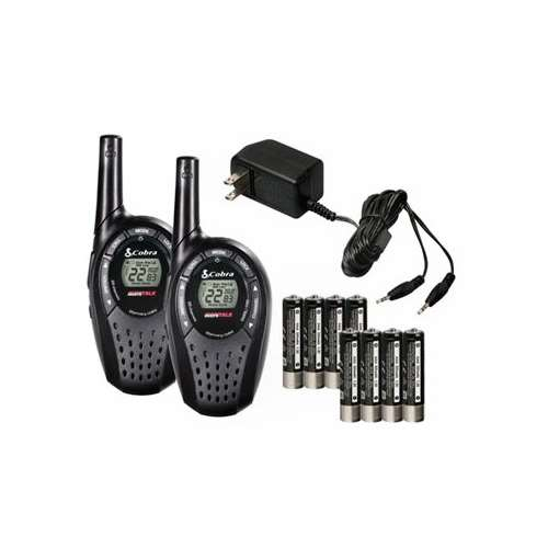Click here to buy 2) COBRA CXT225 MicroTalk 20 Mile GMRS FRS 22 Channel 2-Way Radio Walkie Talkies.