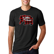 Plaid Little Bear | Mens Christmas T-Shirt