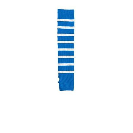 Sport-Tek STA03 Striped Arm Socks, Sport Blue & Silver - Small & Medium - image 1 of 1