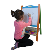 Kids Art Easel Double Sided Wooden Magnetic Whiteboard Painting Easel For Small Kids Toddlers Non Toxic Eco Friendly Standing Educational Toy Best