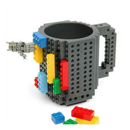 DIY Creative Lego Brick Building Mug Assemble Puzzle Blocks Gift Cup (9 Colors) - image 3 of 12