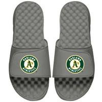 Oakland Athletics ISlide Primary Logo Slide Sandals - Gray