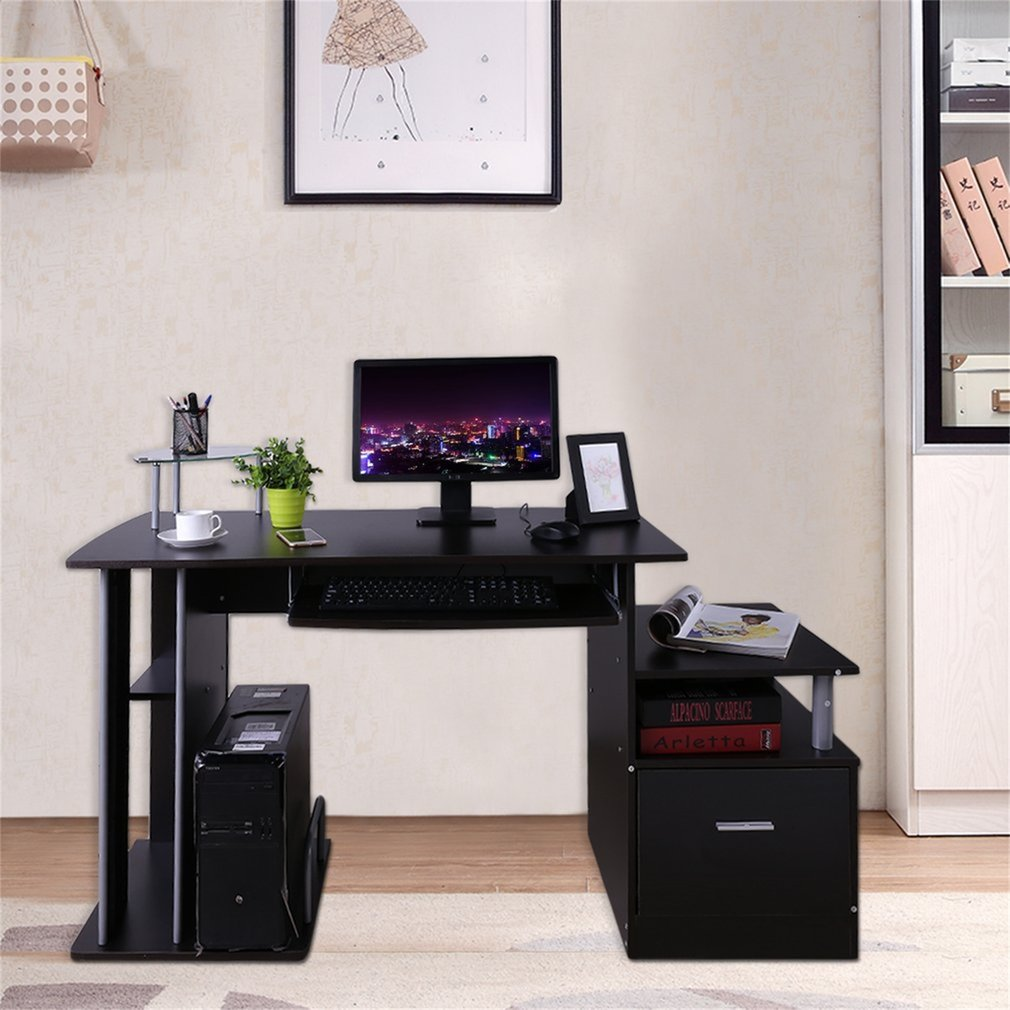 Incroyable CNMODLE Computer PC Table Home Study Office Table Work Desk Workstation  Corner Desk Furniture With Keyboard