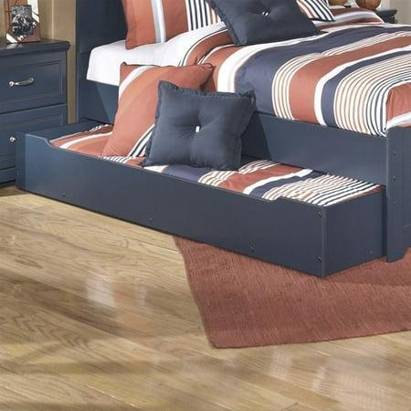 Ashley Leo Wood Trundle Under Bed Storage In Blue