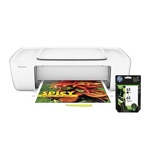 HP DeskJet 1112 Printer w/ 63 Ink Cartridge - Black, Tri-Color HP Deskjet 1112 Inkjet Printer - Color - 4800 x 1200 dpi Print - Plain Paper Print - Desktop - 20 ppm Mono / 16 ppm Color Print - Letter,