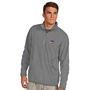 antigua men's fc dallas ice silver quarter-zip fleece jacket by
