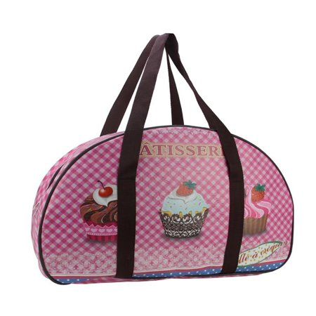 """20"""" Decorative French-Style Patisserie and Cupcake Theme Travel Bag/Purse with Handles"""