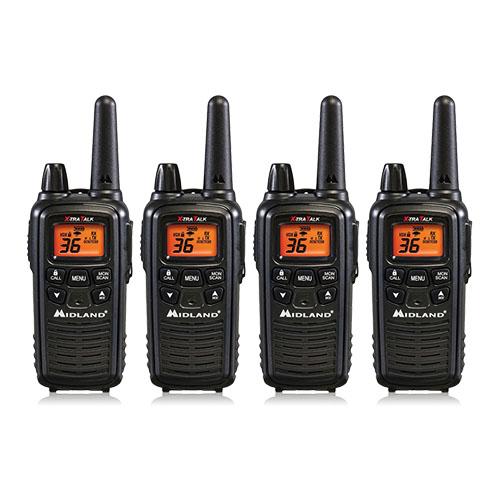 Midland LXT600VP3 Xtra Talk Two Way Radio w  Weather Scan (4 Pack) by Midland
