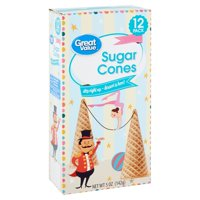 Great Value Sugar Cones, 5 Oz., 12 Count