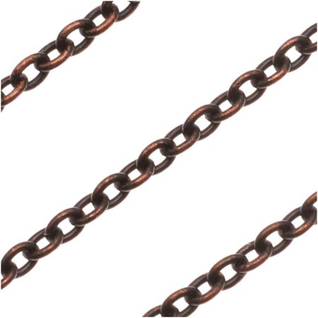 Vintaj Natural Brass 3x2.5mm Extra Fine Cable Chain - Sold By The -