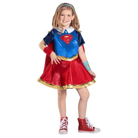 DC Superhero Girls Supergirl Deluxe Halloween Costume - Superhero Girl Costumes Halloween
