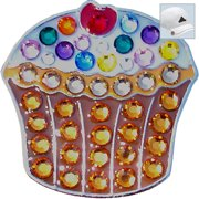 Bella Crystal Golf Ball Marker & Hat Clip - Cup Cake