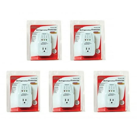 5 Pack AC Voltage Protector Brownout Surge Refrigerator 1800 Watt