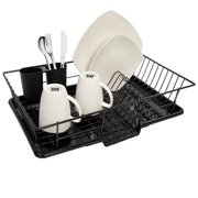 Sweet Home Collection 3 Piece Dish Drainer Set