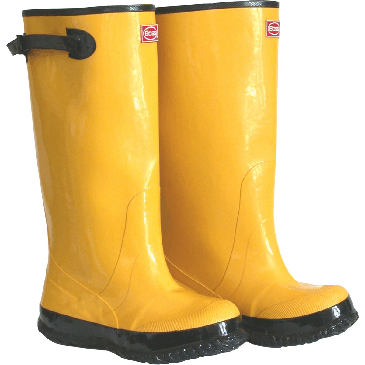 """Boss Gloves 2KP448110 Size 10 17"""" Yellow/Black Rubber Over-The-Shoe Slush Knee Boots"""