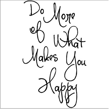 Do More of What Makes You Happy (M) wall saying vinyl lettering home decor decal stickers quotes (Happy Halloween Saying)