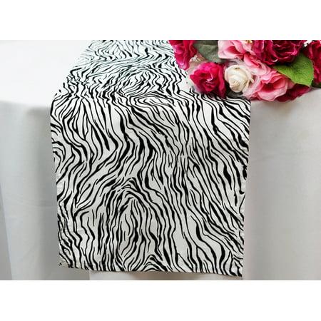 BalsaCircle 12'' x 108'' Safari Animal Print Mini Zebra Table Top Runner - Wedding Party Reception Linens Dinner Event (Order Of Events At Wedding Reception)