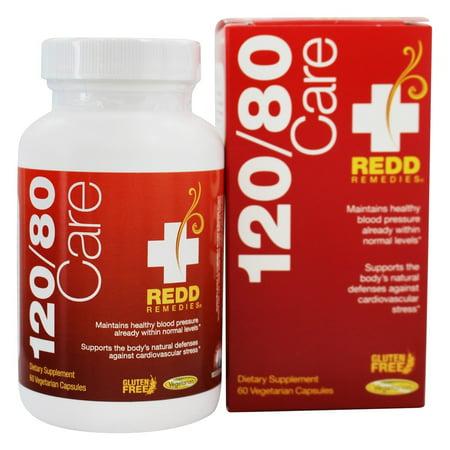 Redd Remedies - 120/80 Care Blood Pressure Support - 60 Vegetarian