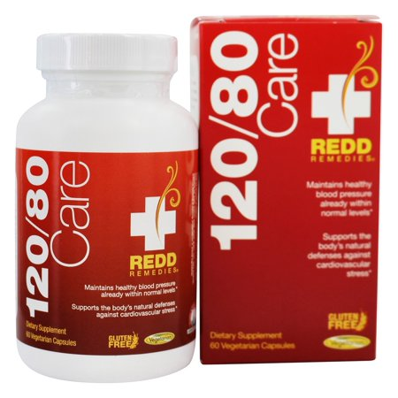 Redd Remedies - 120/80 Care Blood Pressure Support - 60 Vegetarian