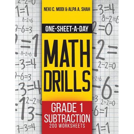 One-Sheet-A-Day Math Drills : Grade 1 Subtraction - 200 Worksheets (Book 2 of 24)