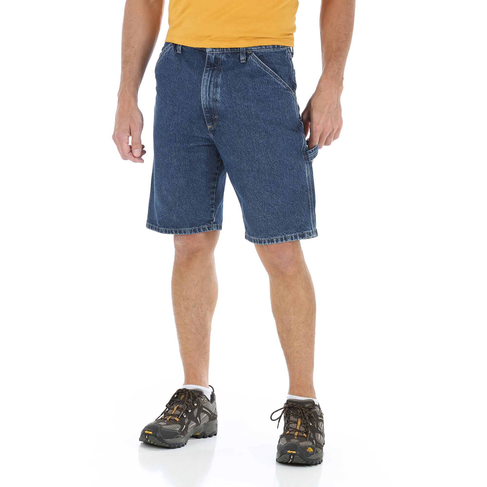 Wrangler - Men's Denim Carpenter Shorts - Walmart.com